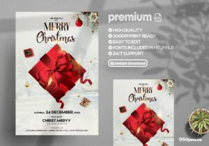 Merry Christmas Celebration Flyer Template