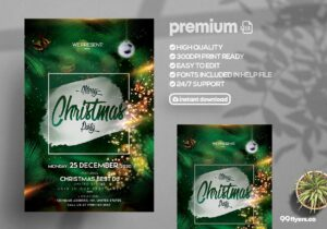 The Christmas Eve Party – PSD Flyer Template