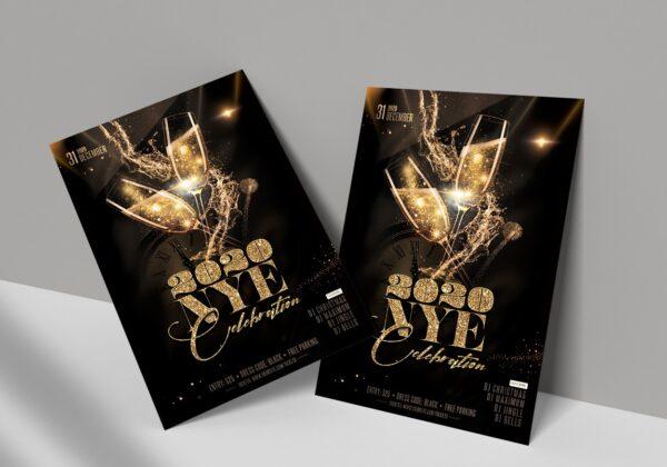 2020 NYE Celebration PSD Flyer