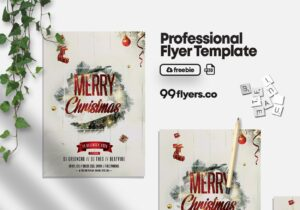 Christmas Celebration Flyer – Free PSD Template