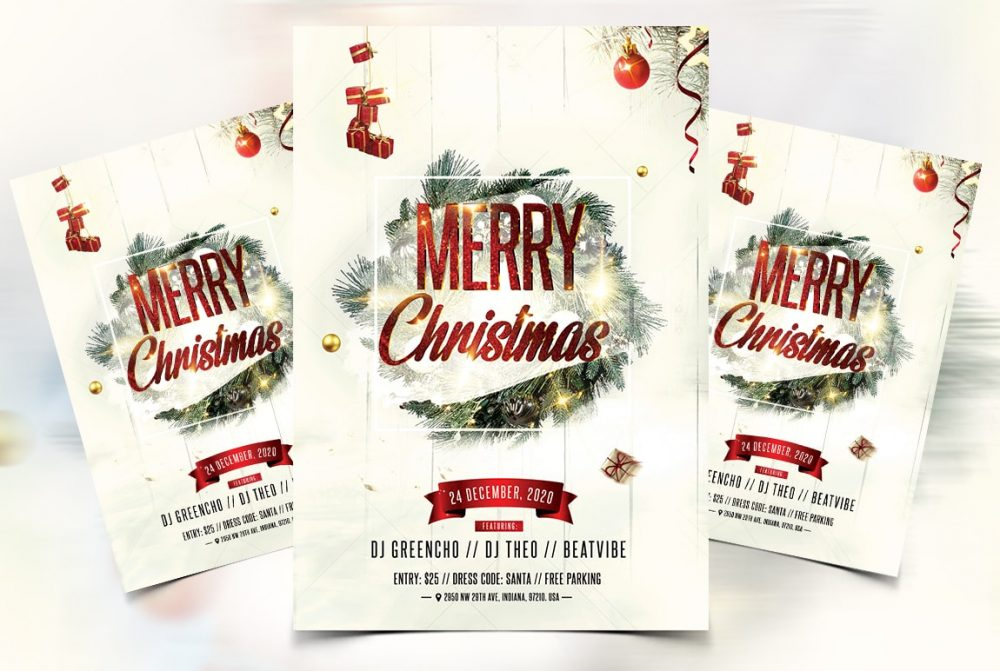 Christmas Celebration Flyer - Free PSD Template