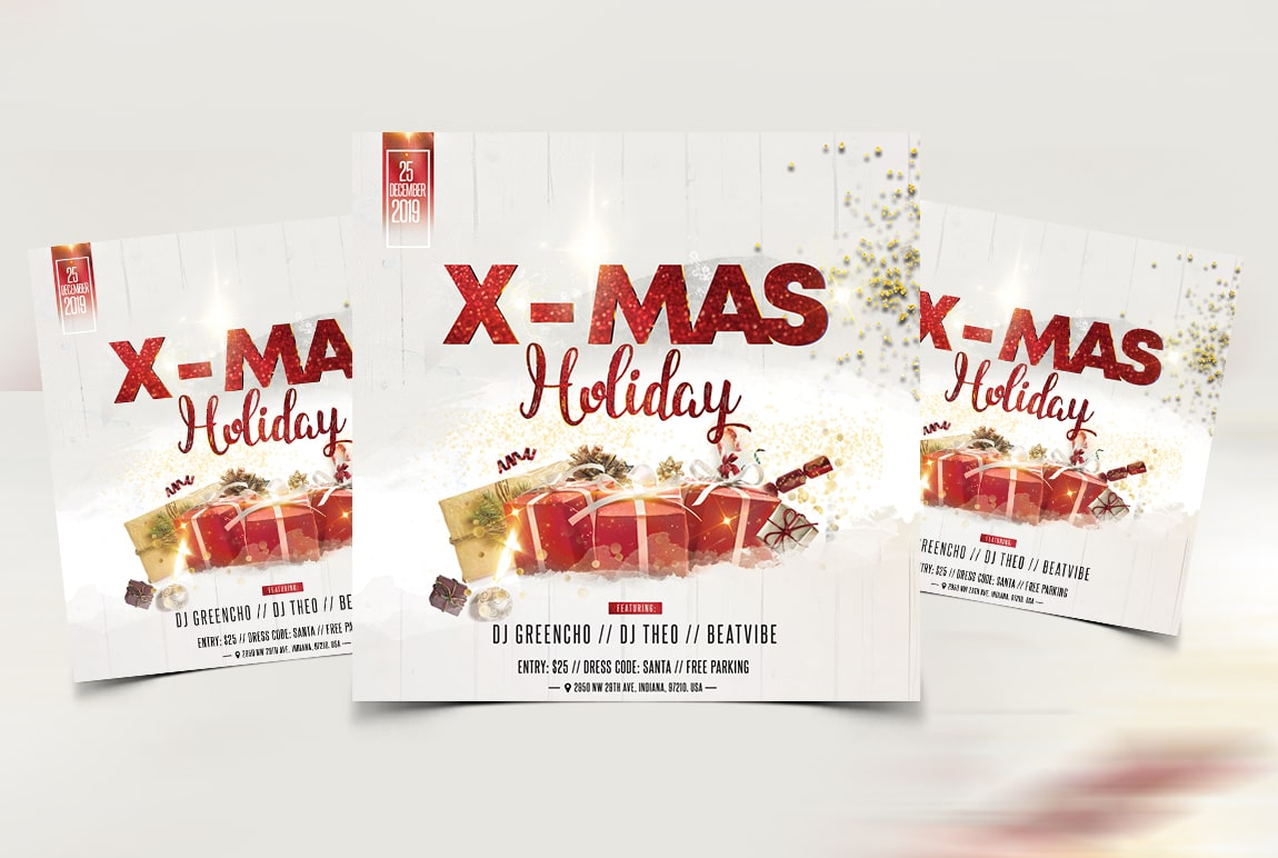 Christmas Event - Free PSD Flyer Template