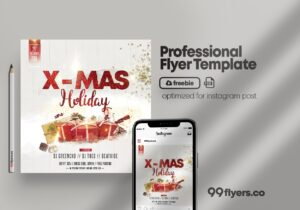 Christmas Event – Free PSD Flyer Template