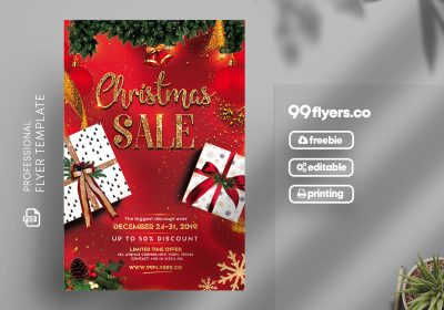 Christmas Sale Flyer Free PSD Template