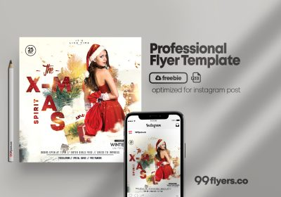 Christmas Spirit Flyer Free PSD Template