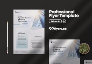 Clean Corporate Flyer Free PSD Template