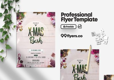 Merry Christmas Celebration Flyer Free PSD Template