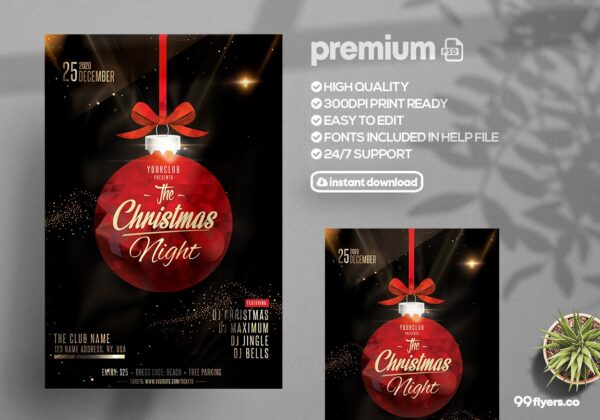 The Christmas Night - PSD Flyer Template