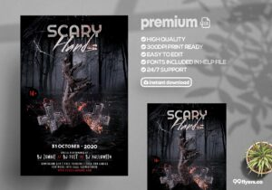 Scary Halloween - PSD Flyer Template