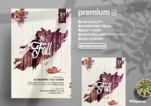 The Fall - Autumn PSD Flyer Template