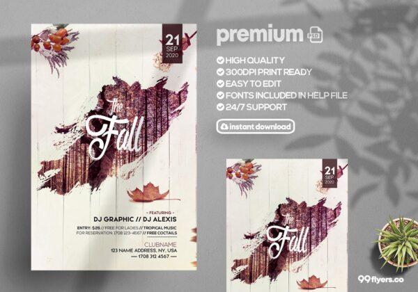 The Fall - Autumn PSD Flyer Template