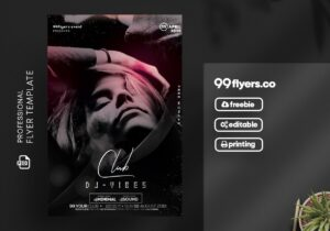 Club DJ – Vibes Free Flyer Template