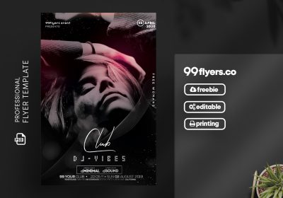Club DJ - Vibes Free Flyer Template