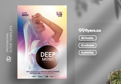 Creative Artist Events PSD Free Flyer Template