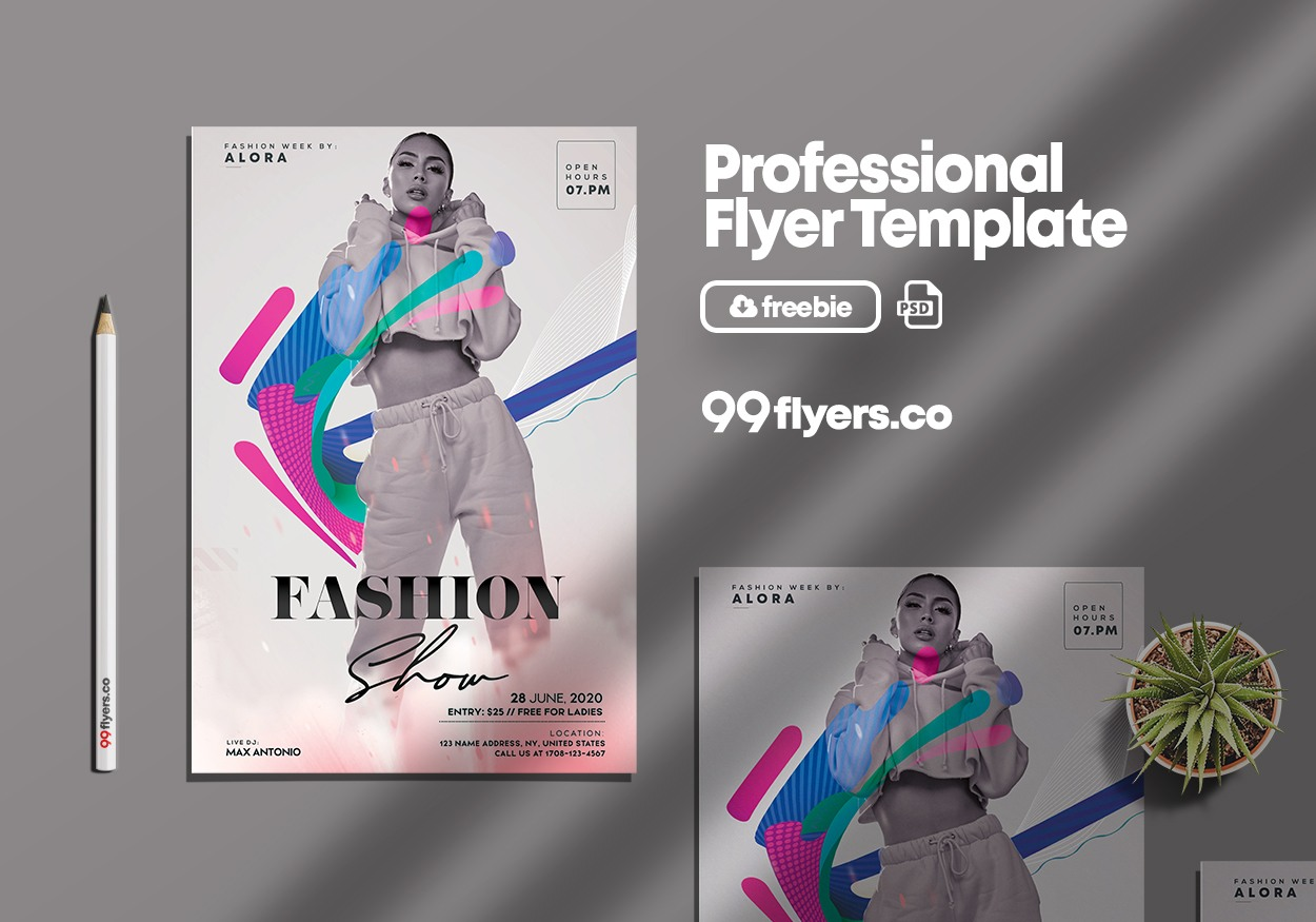 Fashion Runway Free PSD Flyer Template