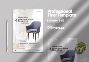 Minimalist Furniture Flyer Free PSD Template