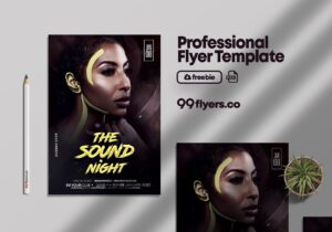 The Sound Night Party Free Flyer Template