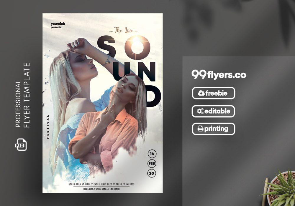 Vibe Events - Modern PSD Free Flyer Template