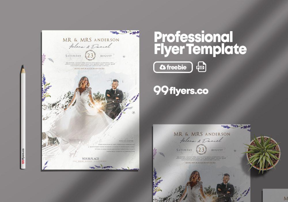 Wedding Agency Free PSD Flyer Template