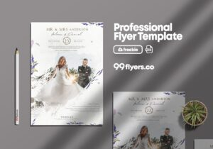Wedding Agency Flyer – Free PSD Template