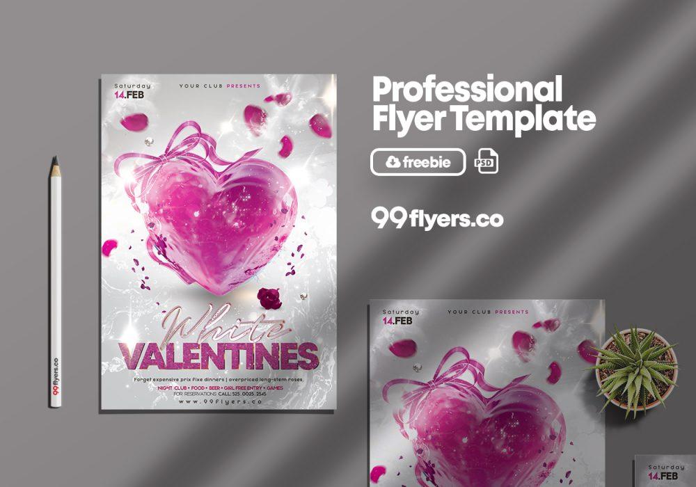 Elegant Valentine's Day PSD Free Flyer Template