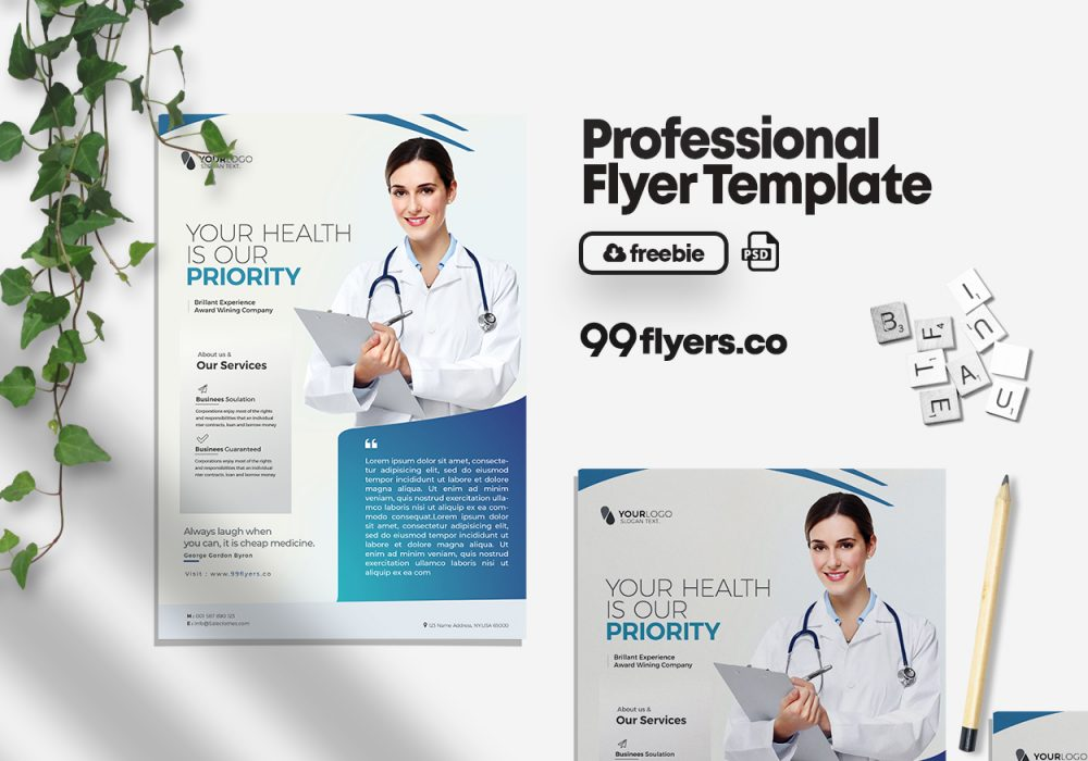 Medical Health Free PSD Flyer Template