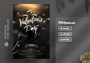 Valentine's Celebration Party Free PSD Flyer Template