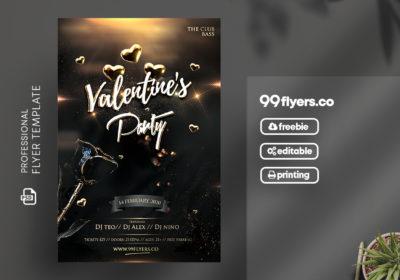 Valentine's Celebration Party Free PSD Flyer Template