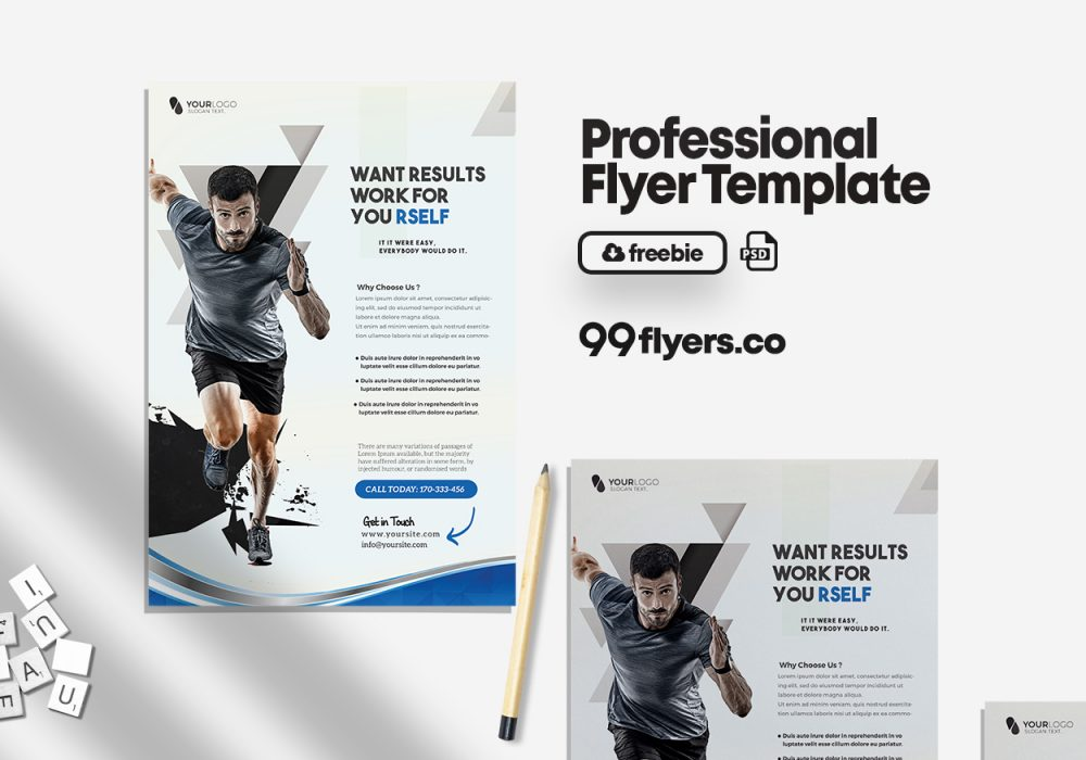 Gym Fitness Flyer - Free PSD Template
