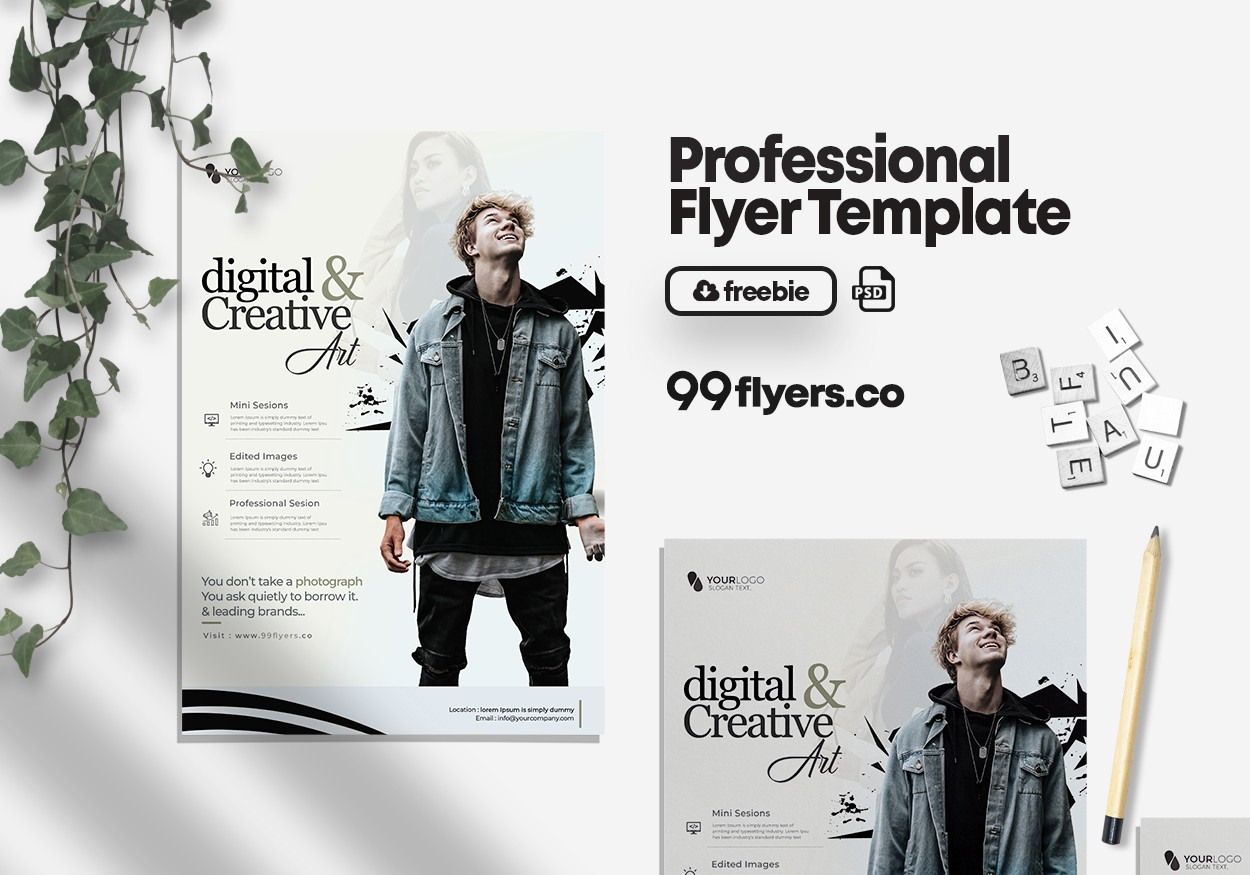Photography Contest Flyer - Free PSD Flyer Template