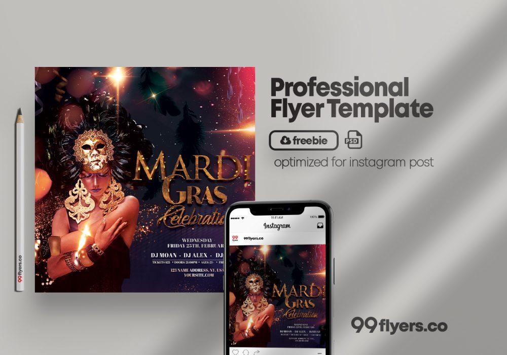 Masquerade Ball Party - Free PSD Flyer Template