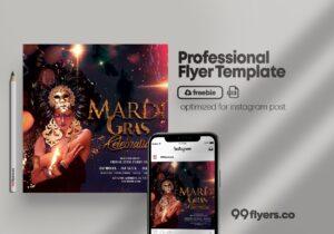 Masquerade Ball Party – Free PSD Flyer Template