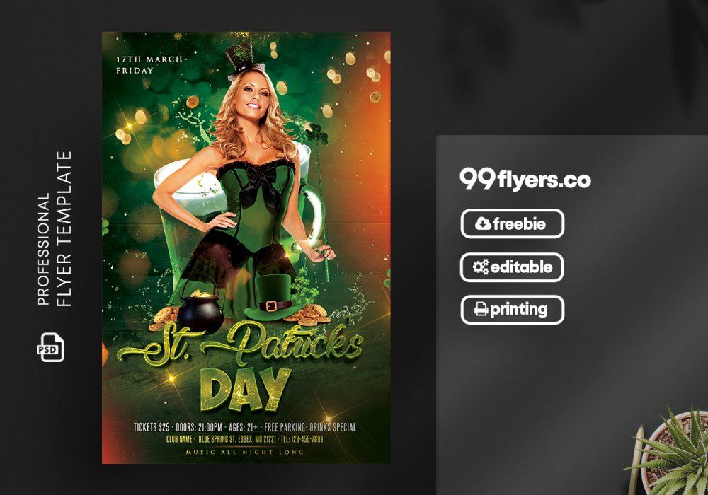 St Patricks Day Flyer - Free PSD Template