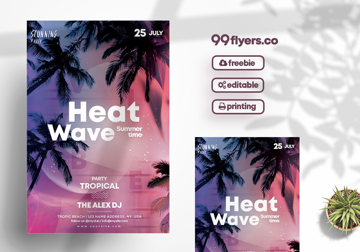Summer Event Party - Free PSD Flyer Template