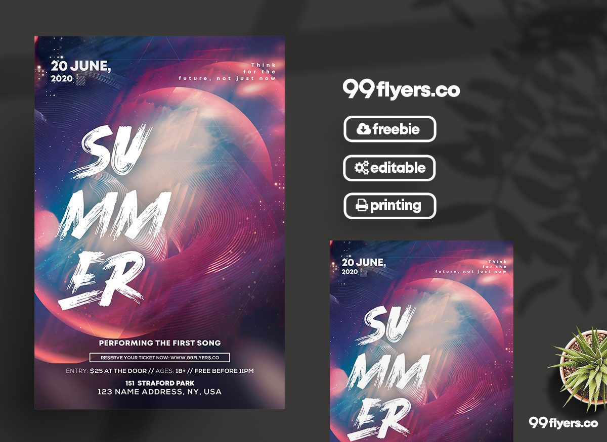 The Club Party - Free PSD Flyer Template