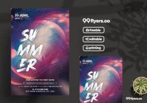 The Club Party – Free PSD Flyer Template