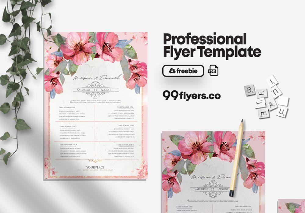 Wedding Check List - Free PSD Flyer Template