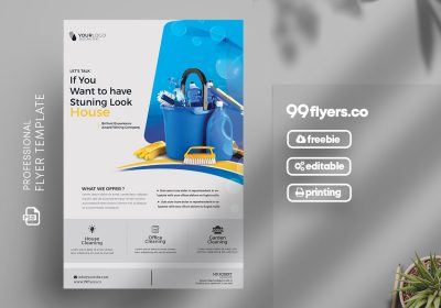 Cleaning Service Flyer Free PSD Template