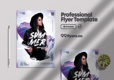 Club Night PSD Free Flyer Template vol1