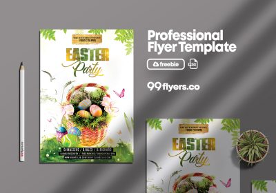 Easter Party Flyer Free PSD Template