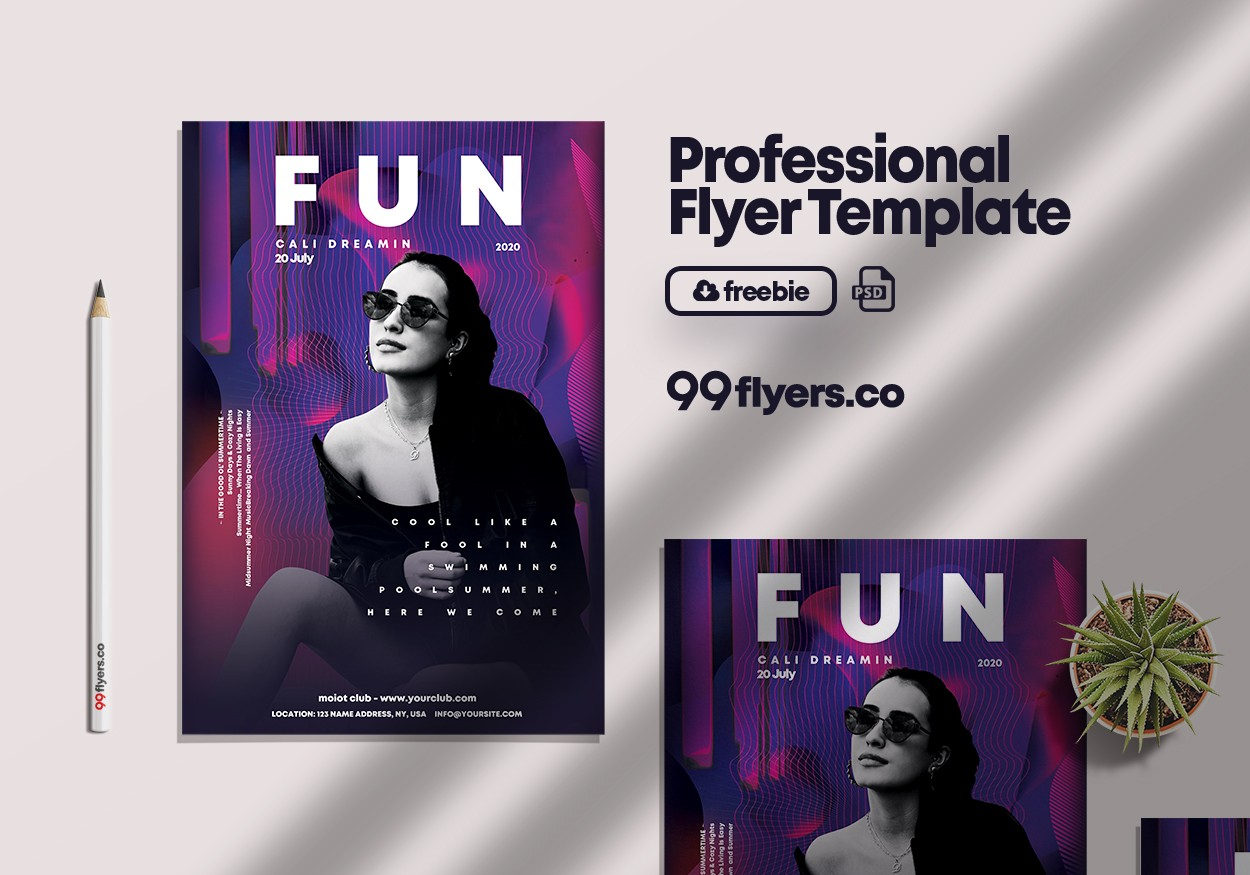 Fun Club Party PSD Flyer Template Vol1