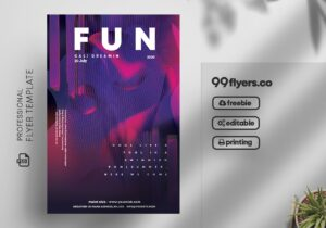 Fun Club Party Free PSD Flyer Vol2