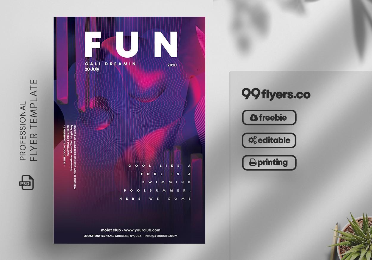 Fun Club Party PSD Flyer Template Vol2
