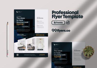 Interior Design & Furniture Free PSD Flyer Template