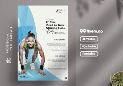 Sport Fitness Flyer - Free PSD Template