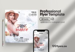 Spring Begins Event Party – Free PSD Flyer Template