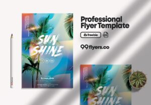 Tropical Vibes Free PSD Flyer Template vol3