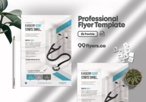 Medical Coronavirus Flyer Free PSD Template