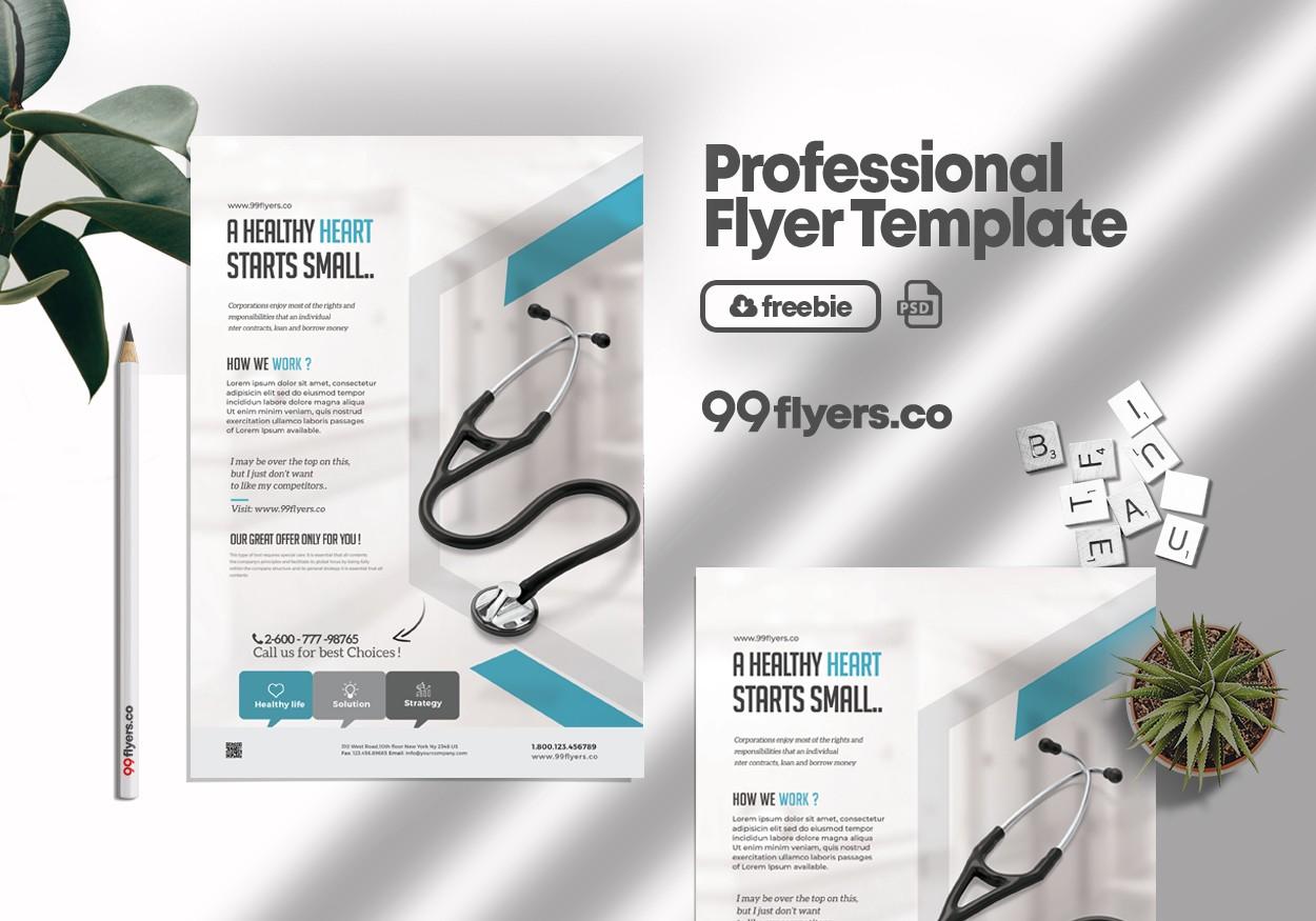 Medical Coronavirus Flyer Free PSD Template