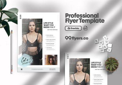Modern Event Online Sale Flyer Free PSD Template